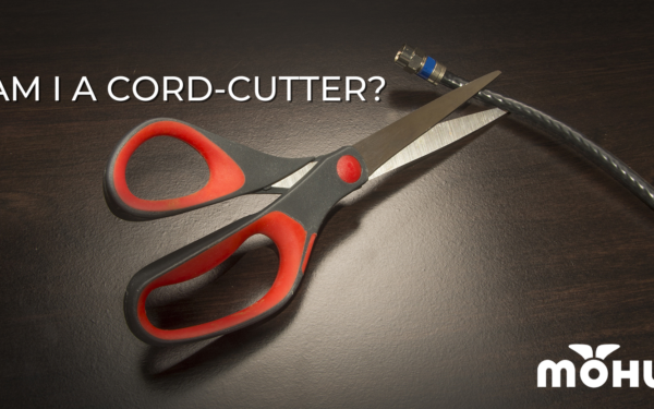 Scissors cutting a coax cable, Am I a Cord-Cutter, Mohu