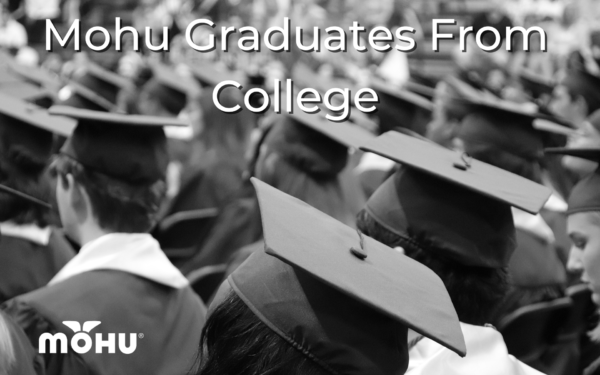 College grad hats Mohu Graduates From College, Mohu