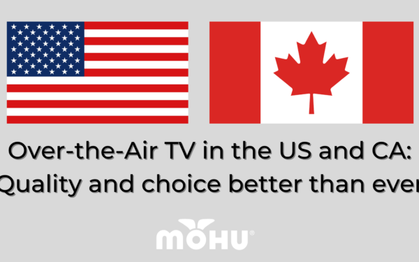 American Flag and Canadian Flag, Over-the-Air TV in the US and CA: Quality and choice better than ever