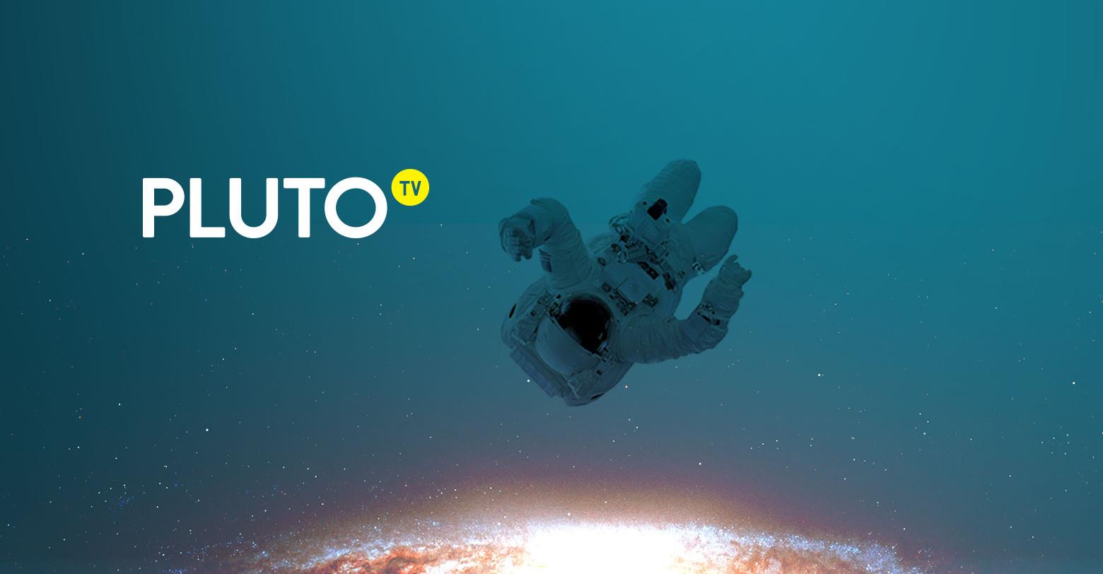 Pluto TV promo image of astronaut in space