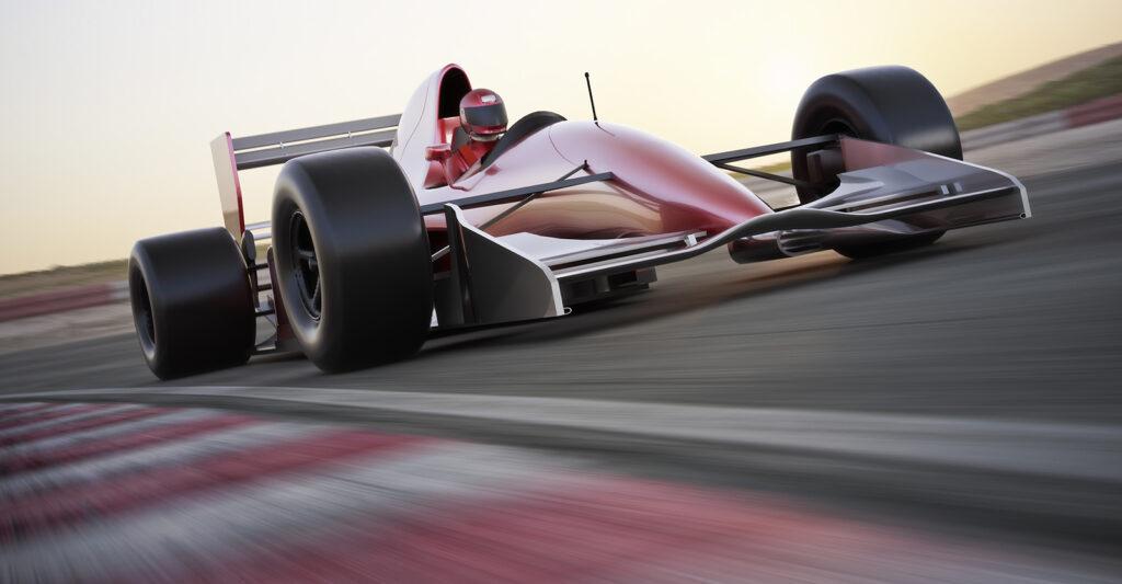 Formula 1 car on the track