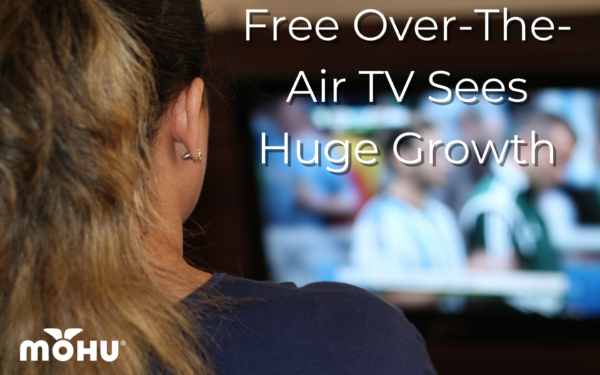Woman sitting in front of Television, Free Over-The-Air TV Sees Huge Growth
