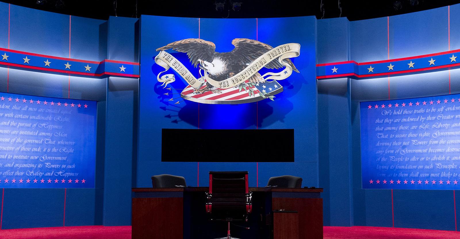 Presidential Debate stage