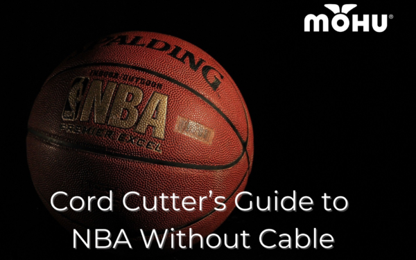 Spalding Basketball with black background, Cord Cutter's Guide to NBA Without Cable