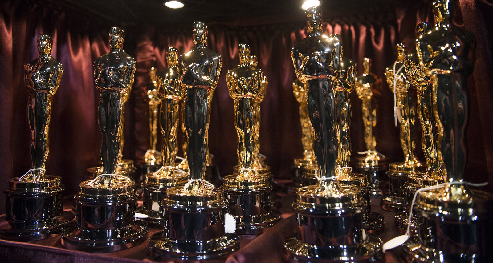 Grouping of Academy Award trophies