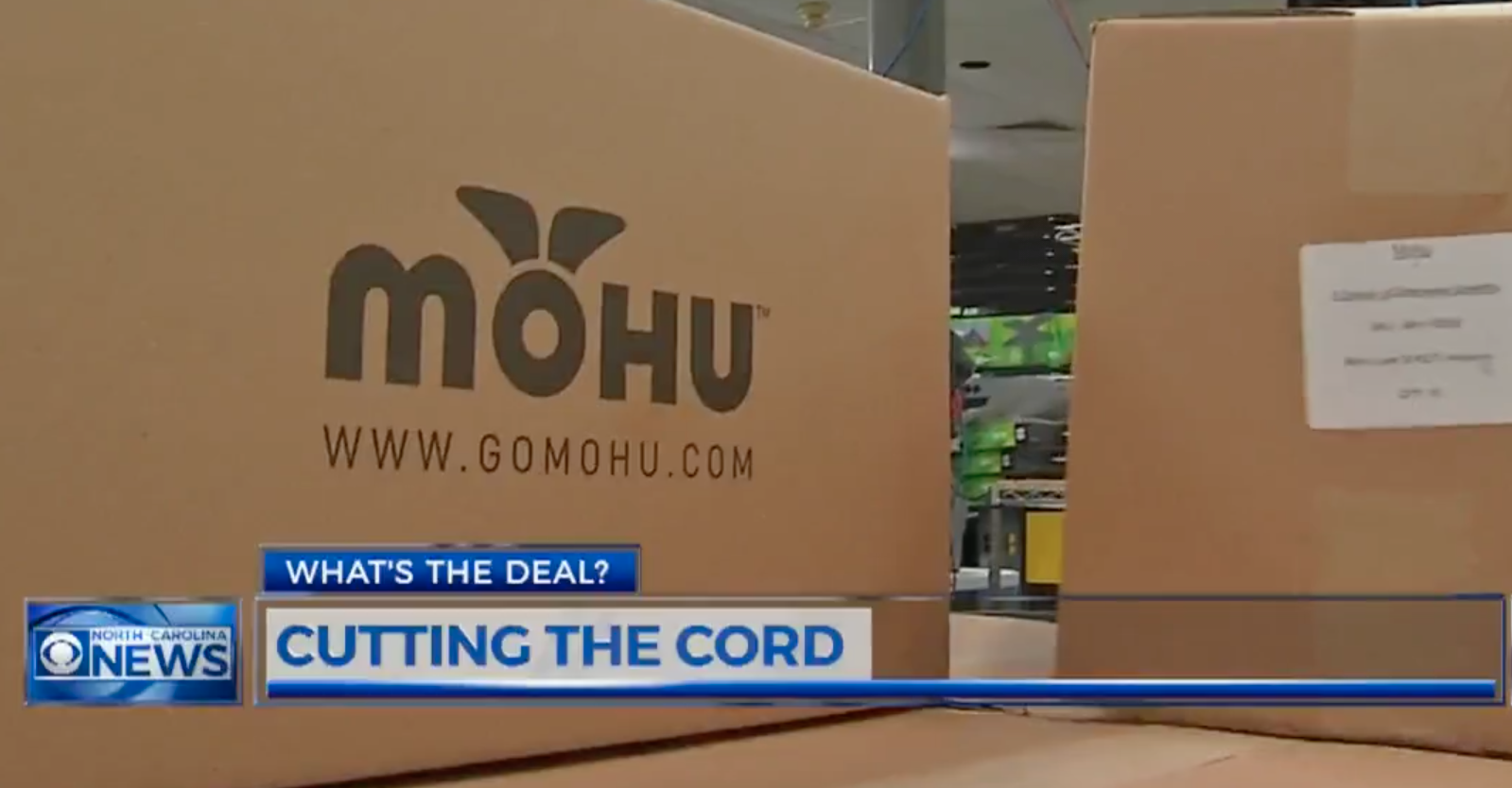 Mohu antenna box as featured on WNCN