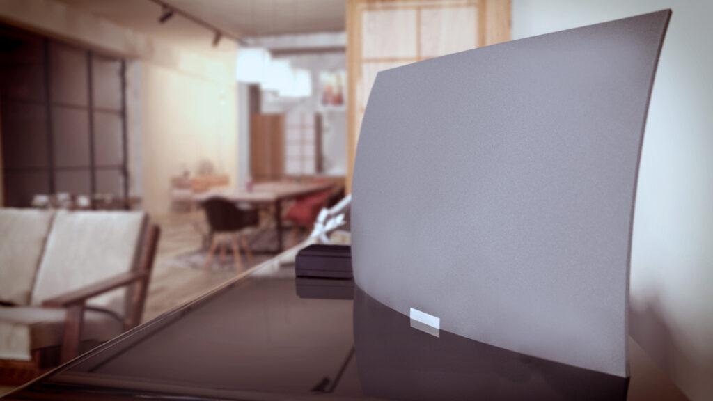 Mohu Airwave TV Antenna on piano