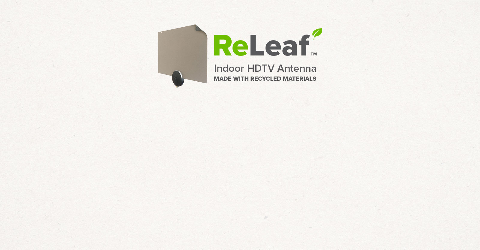 Mohu ReLeaf Antenna with logo