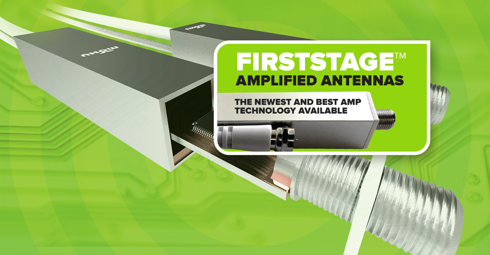 Firststage amplified antennas