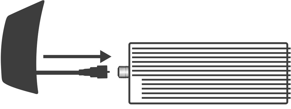 connecting coaxial cable to power bridge