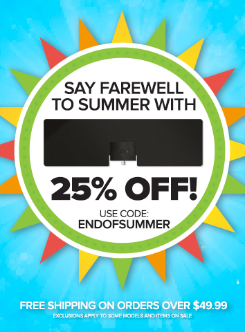 Say farewell to summer with 25% off! Use coupon code ENDOFSUMMER at checkout. Plus, free shipping on orders over $49.99. Exclusions apply to some models.